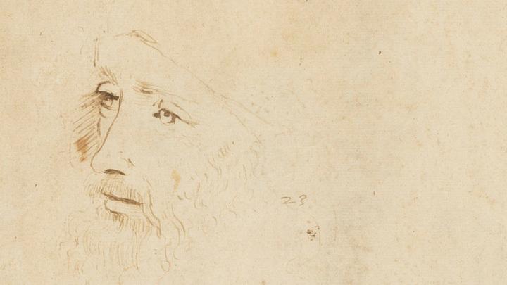 Набросок портрета Леонардо да Винчи, 1517-1518 гг., Британская королевская коллекция. Изображение: Royal Collection Trust