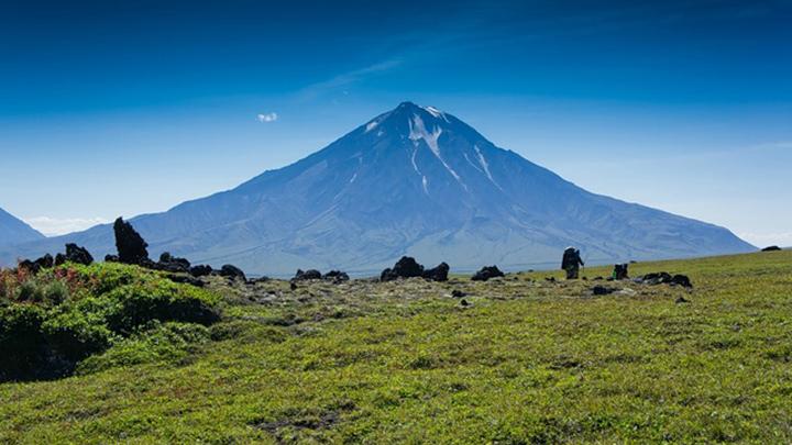 Вулкан Большая Удина на Камчатке