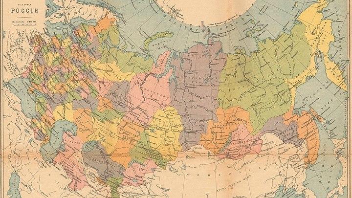 Карта административного деления России на 1914 год / 1-е Государственное картографическое заведение бывш. А.Ильина