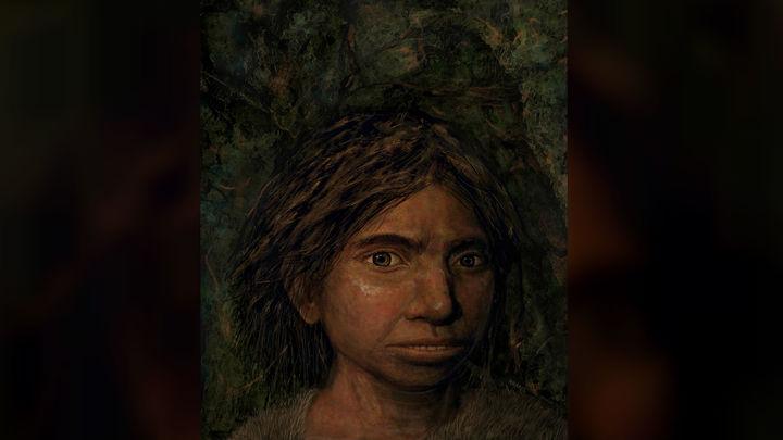 Реконструкция внешности молодой представительницы вида денисовцев по генетическим данным.