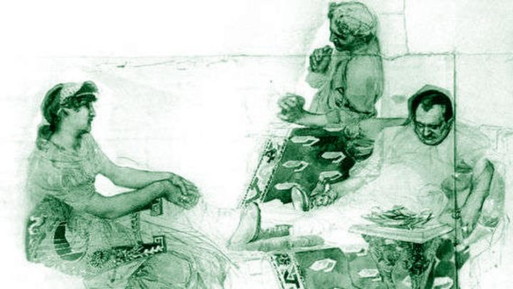 Михаил Врубель «Пирующие римляне»