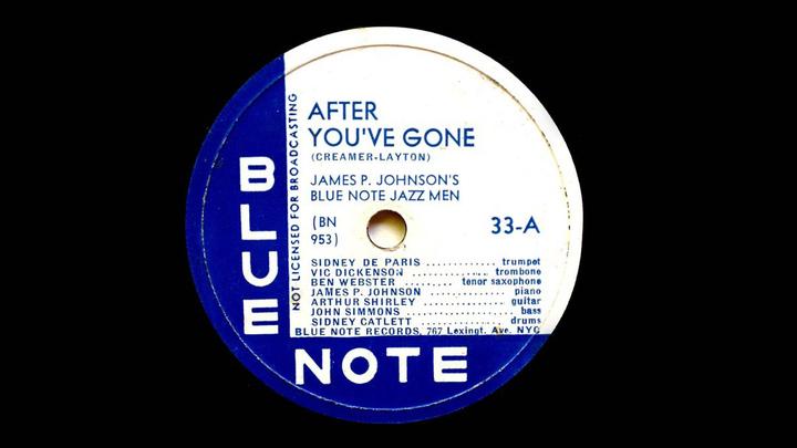 Пластинка. James P. Johnson's Blue Note Jazzmen  /discogs.com/