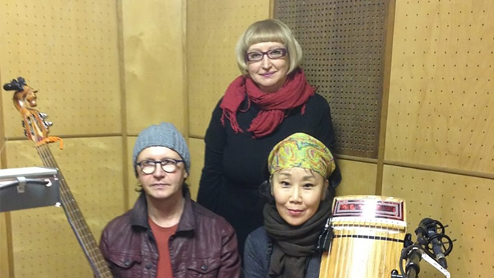 Евгений Золотарёв, Намгар Лхасаранова и Людмила Осипова. Фото Елены Андреевой