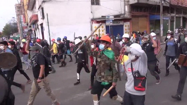 В Боливии продолжаются беспорядки photo