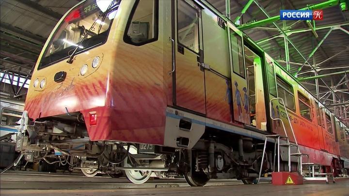 Новый тематический поезд, посвященный Сергею Михалкову, появился в московском метро