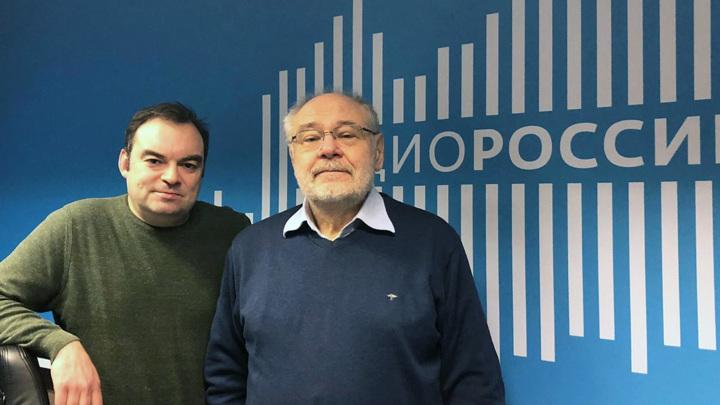 """Марк Гройзбург в студии """"Радио России"""""""