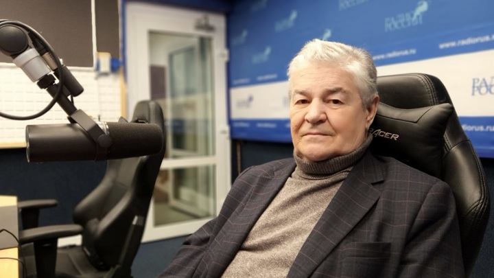 """Валерий Иванович Гуляев в студии """"Радио России"""""""