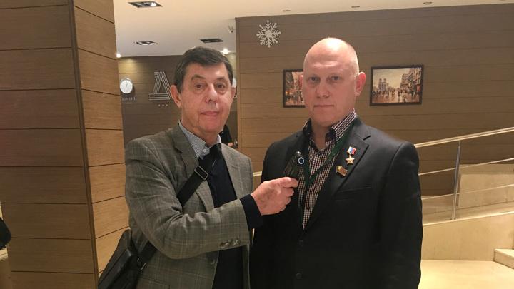 Вячеслав Кирик и космонавт Герой России Олег  Артемьев