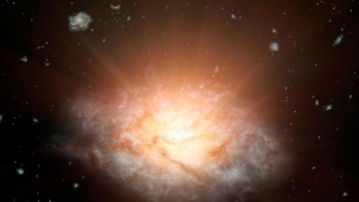 WISE J224607.57-052635.0 √ далёкая галактика, сияющая, как 300 миллиардов солнц