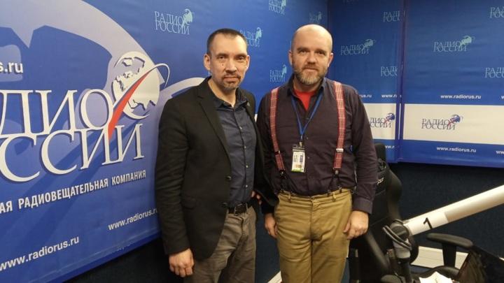 """Александр Родин и Дмитрий Конаныхин в студии """"Радио России"""""""