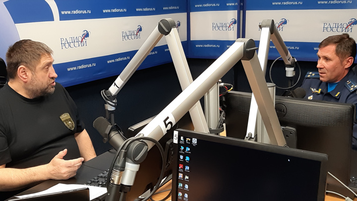 """Полковник Артем Филиппов в студии """"Радио России"""""""
