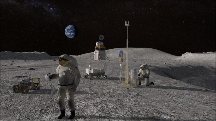 NASA планирует построить на Луне постоянную базу.