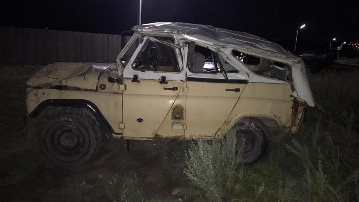 Пьяный подросток перевернул УАЗ с четырьмя друзьями в салоне