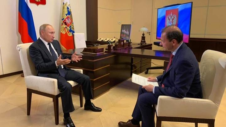 В 14:00 – Большое интервью Владимира Путина Сергею Брилеву