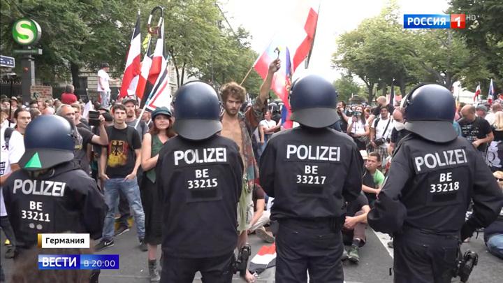 Штурм рейхстага: в Берлине протестовали против политики властей ФРГ
