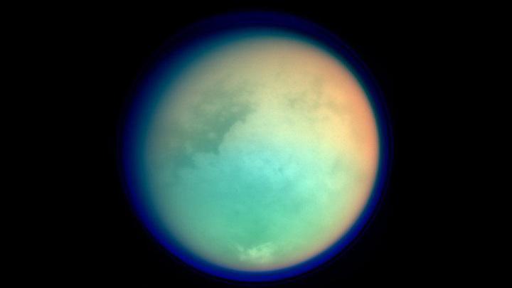 Мультиспектральный снимок Титана / NASA/JPL/Space Science Institute / Public domain