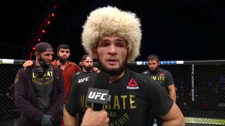 Победу в последнем бою в UFC Хабиб Нурмагомедов посвятил отцу