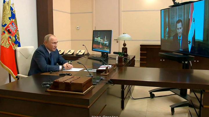 Путин обсудил с Асадом поставки российских вакцин от коронавируса в Сирию