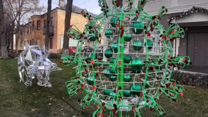 В Липецке появился необычный новогодний арт-объект
