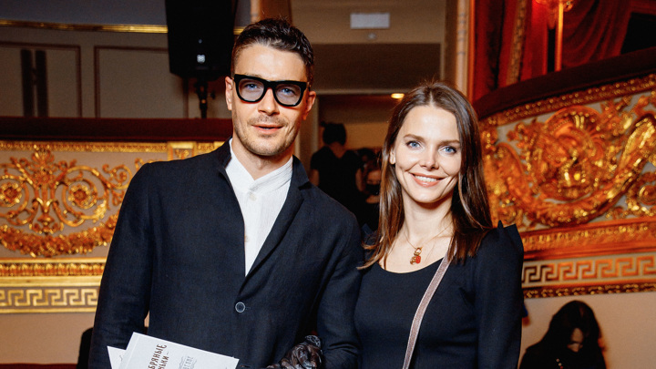 Фотография с премьеры фильма в Александринском театре. Елизавета Боярская и Максим Матвеев