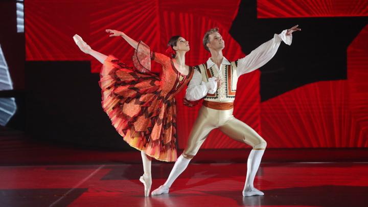 "Кадр из финала проекта ""Большой балет"""