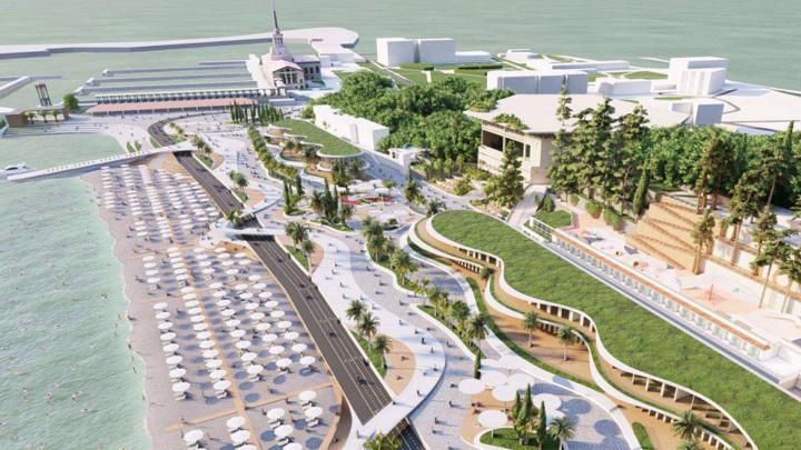 В Сочи представили проект второго этапа реконструкции Ривьерской набережной