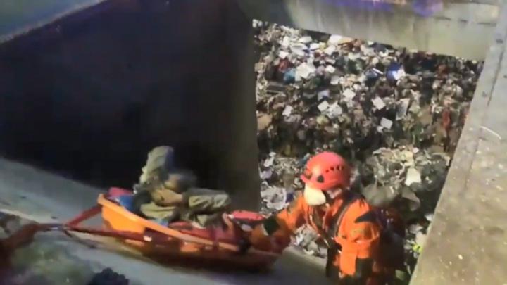 В Праге бездомный попал вместе с отходами в мусоросжигательную печь