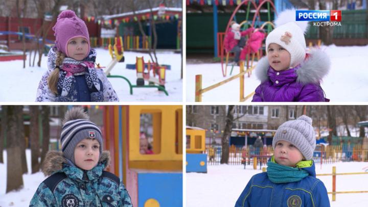 Костромские дети пожалели Деда Мороза за его тяжелый труд