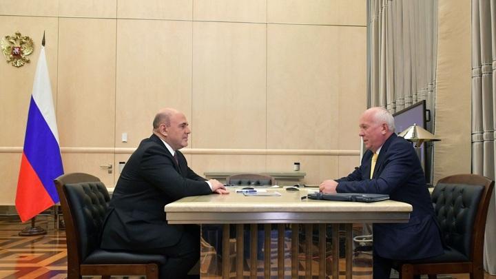 Михаил Мишустин провел встречу с главой Ростеха Сергеем Чемезовым