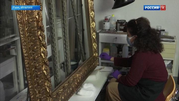 В римском Палаццо Барберини реставрируют экспонаты