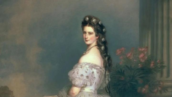 Елизавета Баварская, императрица Австрии. Художник Франц Ксавер Винтерхальтер (1865)