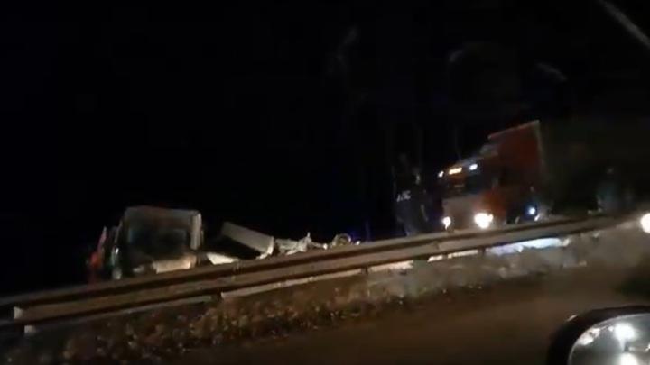 Место смертельной аварии на Горьковском шоссе сняли на видео
