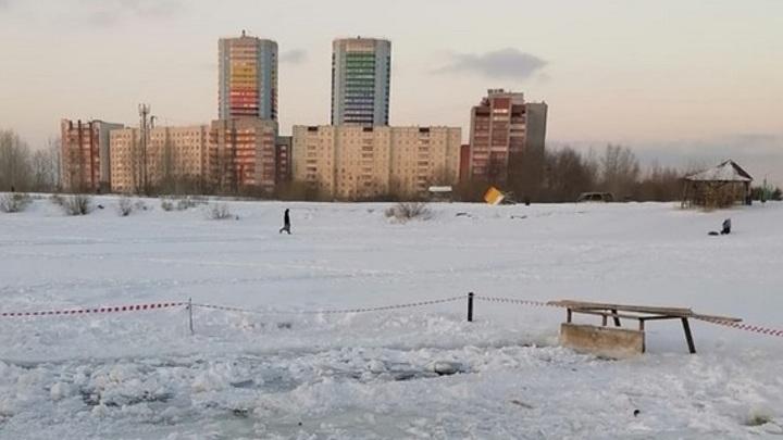 Две нелегальных проруби обнаружили спасатели в Новосибирске