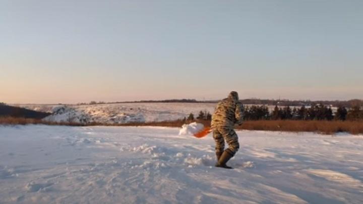 Липчанин в 23 градуса мороза переночевал в сугробе