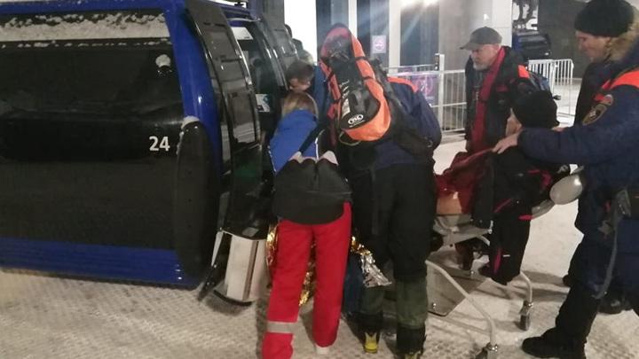 Экстремальный спуск: лыжник из Москвы сломал ногу в горах Сочи