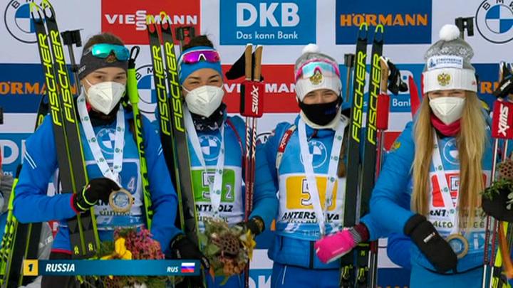 Впервые за два года: победа российских биатлонисток