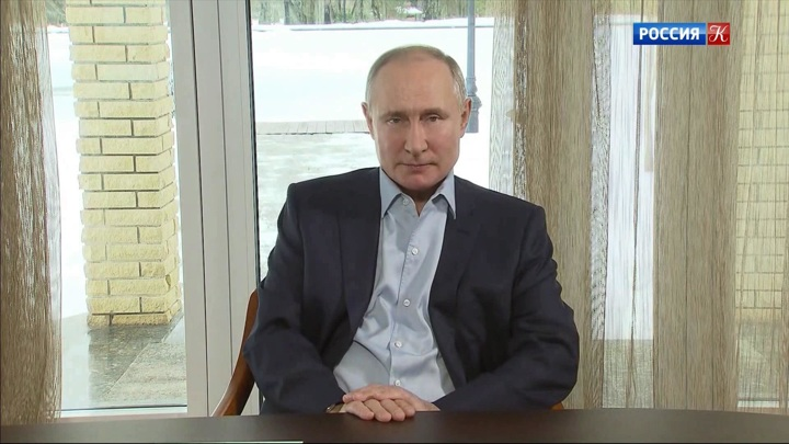 Владимир Путин в режиме видеоконференции провел встречу со студентами