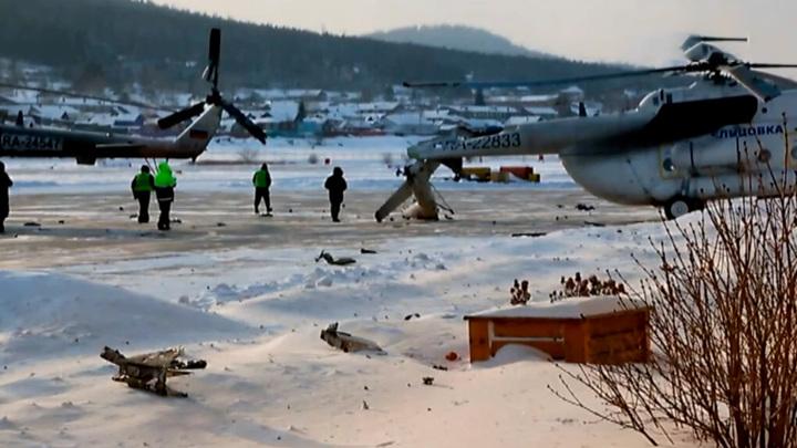 В Красноярском крае вертолет при взлете развалился на части