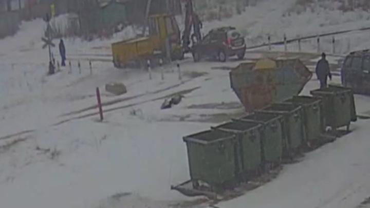 Авария на железнодорожном переезде в Липецке попала на видео