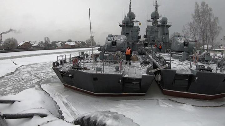 Корабли Балтийского флота едва не попали в ледовый плен