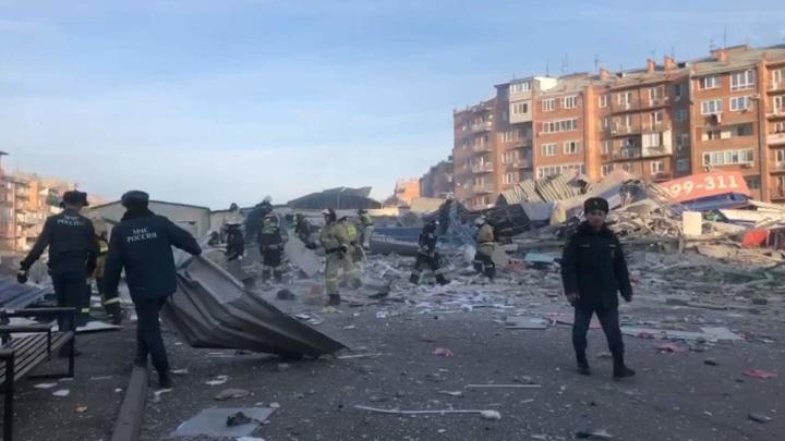 Охранник разрушенного взрывом здания сам выбрался из-под обломков