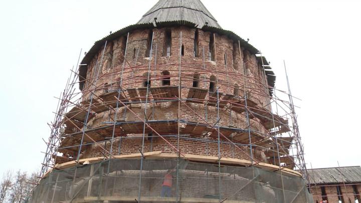 Завершается реставрация Громовой башни в Смоленске