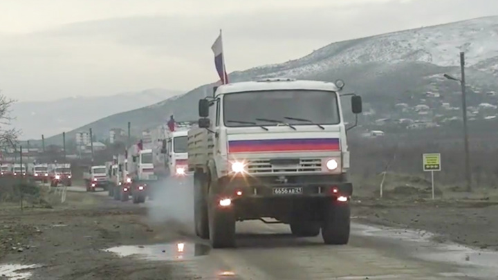 В Нагорный Карабах прибыла четвертая партия гуманитарной помощи от России