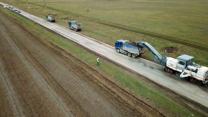 В Крыму ремонтируют автодорогу Евпатория – Черноморское
