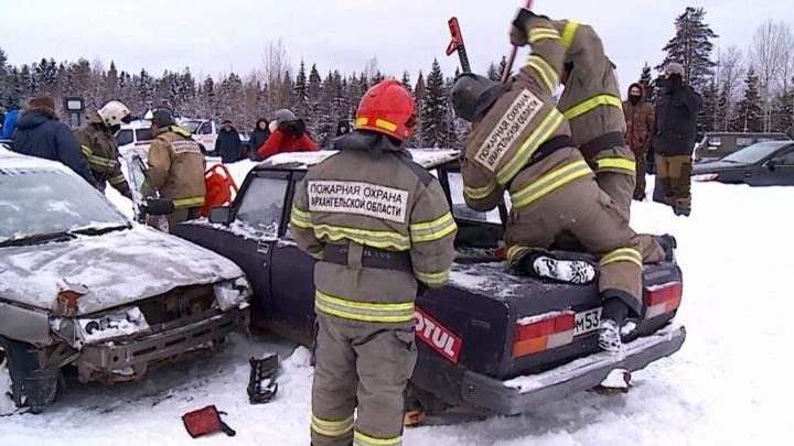 Крупное ДТП в Холмогорском районе было инсценировкой для проведения учений