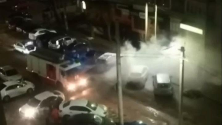 В Смоленске вспыхнул автомобиль