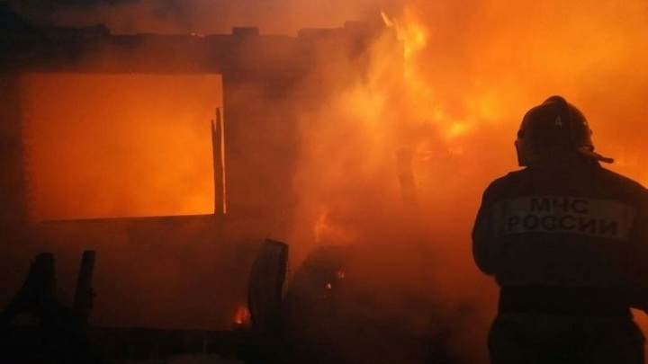 В Омской области во время пожара погибли многодетная мать и двое детей