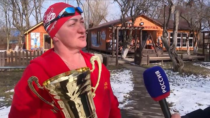 В Калининград вернулась чемпионка планеты по плаванию в ледяной воде