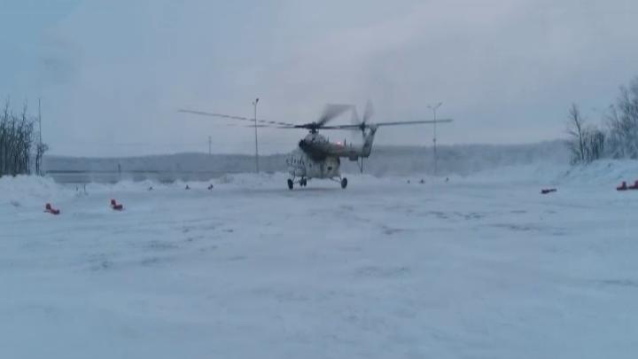 Вертолет медицины катастроф отправили на турбазу полуострова Рыбачий