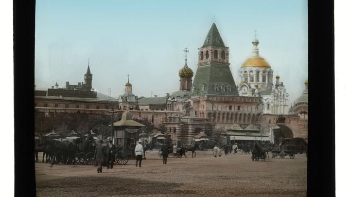 Лубянская площадь. Диапозитив К.Э. Берггрена